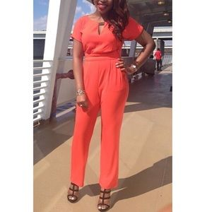 Vince Camuto Jumpsuit with Blouston Top